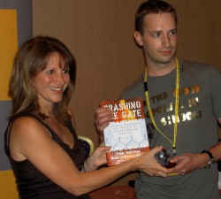 Presenting Stephen Tall with his blog of the year prize
