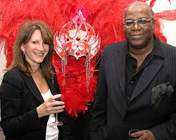 With Mike Phillips at the launch of Black History Month. Photo: Henry Jacobs