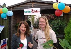 With Georgina McAllister from Garden Africa, which helps HIV sufferers in Southern Africa