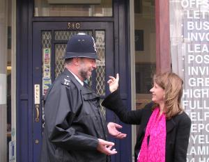 Checking out possible new locations for the police in Muswell Hill with the local Safer Neighbourhood Team