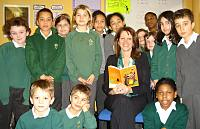 Lynne Featherstone MP at St Mary's School as part of National Story Telling Week