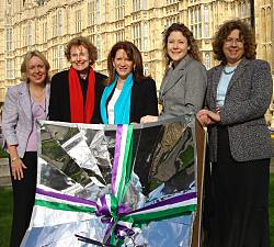 Lorely Burt, Annette Brooke, Lynne Featherstone, Jenny Willot and Lindsay Northover