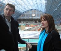Visiting St Pancras Eurostar terminal with John Leech