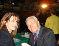 With Tony Benn at protest against Iraq war