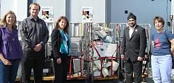 Kirsty Mcintyre (Hewlett Packard), Peter Padua (Maxitech), myself, Kam Matharu (NCH) and Cllr Lyn Weber (Lib Dem)