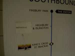 Finsbury Park station sign