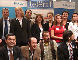 Lynne Featherstone MP at the first anniversary of Telgraf