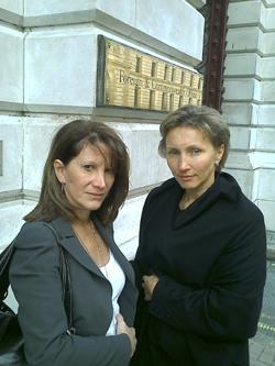 Lynne Featherstone with Marina Litvinenko
