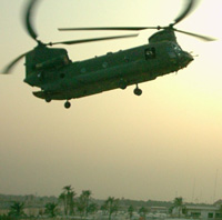 Helicopter in Iraq