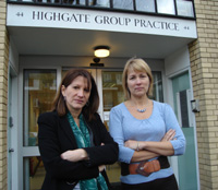 Lynne Featherstone MP at Highgate Group Practice