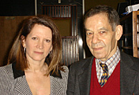 Holocaust survivor Rudi Openheimer with Lynne Featherstone MP