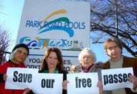 Campaigning to keep Haringey's free leisure passes for pensioners with Cllr David Winskill