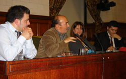 Lynne Featherstone with Kurdish Turkish MP, Ali Dimirci and Ibrahim Dogus for Newroz in Parliament