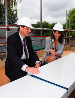 Hornsey Hospital topping out ceremony