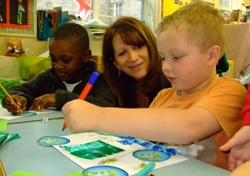 Lynne Featherstone at Highgate Primary School