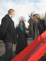 Lynne Featherstone at Alexandra Palace Park playground