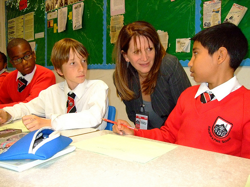 Lynne Featherstone at Alexandra Park School
