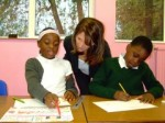 Lynne Featherstone at St mary's junior school