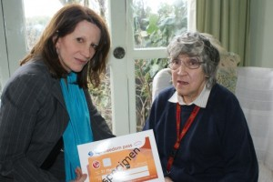 Freedom Pass - Lynne Featherstone with Mrs Cairns