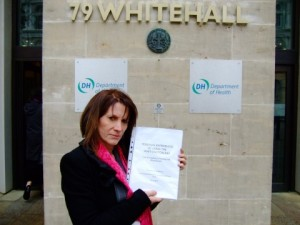 Lynne Featherstone presenting personal stories about the Whittington Hospital