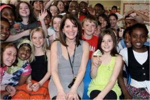 Lynne Featherstone visiting Highgate Primary Year 6