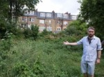 Cllr Richard Wilson at proposed development site