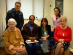 Lynne Featherstone with Haringey Phoenix members and staff from Dukes Avenue Practice