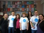 Lynne Featherstone, Alison Rowe and staff and volunteers at Exposure