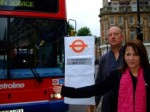 Lynne Featherstone and Cllr Martin Newton campaigning for accessible bus stop