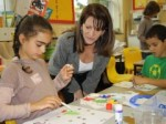 Lynne Featherstone and year four students at Highgate primary