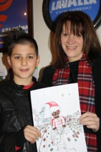 Lynne Featherstone and competition winner Zoom Rockman