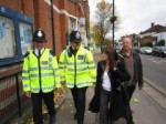 Lynne Featherstone and Cllr Martin Newton with Special Constables