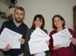 Cllr Richard Wilson, Lynne and Cllr Katherine Reece collecting signatures for the petition against cuts to older peoples' services