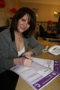 Lynne Featherstone with the 2011 census survey