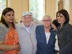 Lynne Featherstone MP with concerned service users and providers at Woodside House