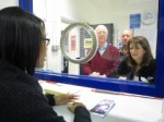 Lynne Featherstone MP and Cllr Martin Newton meeting volunteers who man Muswell Hill Police station front counter