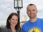 Lynne Featherstone and Hornsey resident Joe Churcher