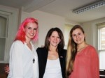 Emily Mills (right) and Naomi Lane (left) with Lynne Featherstone MP at Channing School. Emily and Naomi are both year 12 politics students.