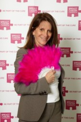 Lynne Featherstone MP at 'wear it pink' parliamentary event