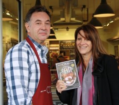 Lynne Featherstone MP with COOK shop owner Jase Denny in the new COOK shop on Muswell Hill Broadway