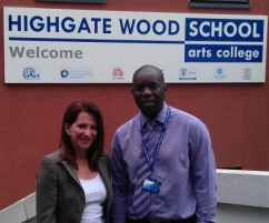 Lynne Featherstone with the head teacher of Highgate Wood School, one of the schools she visited over the summer to find out how the Pupil Premium funding is being spent