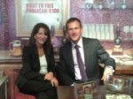 Lynne Featherstone MP with CAMRA Chief Executive Mike Benner at the Liberal Democrat Autumn Conference, 2012