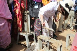 International Development Minister Lynne Featherstone in Sudan