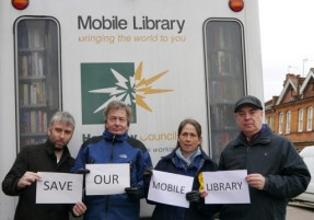 Haringey Lib Dems campaigning to save the mobile library