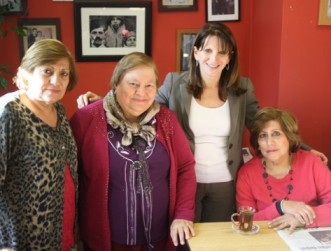 Lynne Featherstone MP with women at the turkish cypriot women's project