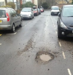 Current pothole on Lightfoot Road