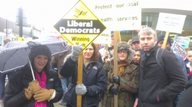 Lynne Featherstone MP and the Haringey Lib Dems at the Whittington March