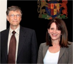 Lynne Feathestone with Bill Gates