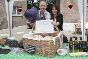 Lynne Featherstone MP with Independent Shops competition winner Owen's Food Store