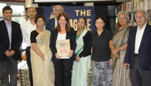 Lynne Featherstone MP with Dr Kalyan Kundu (Founder/Chairman) and the Tagore Centre volunteers at the Tagore Centre